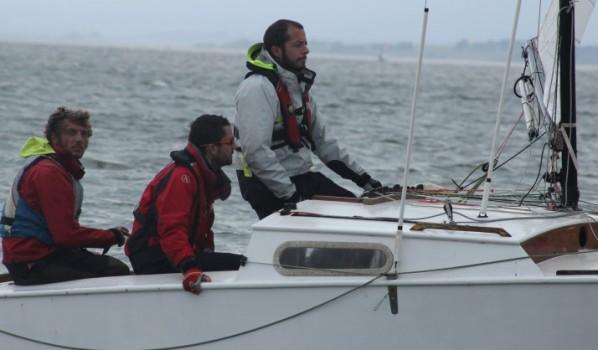 Dernière régate 2014 à la Nautique: dix-sept bateaux pour un superbe baisser de rideau.